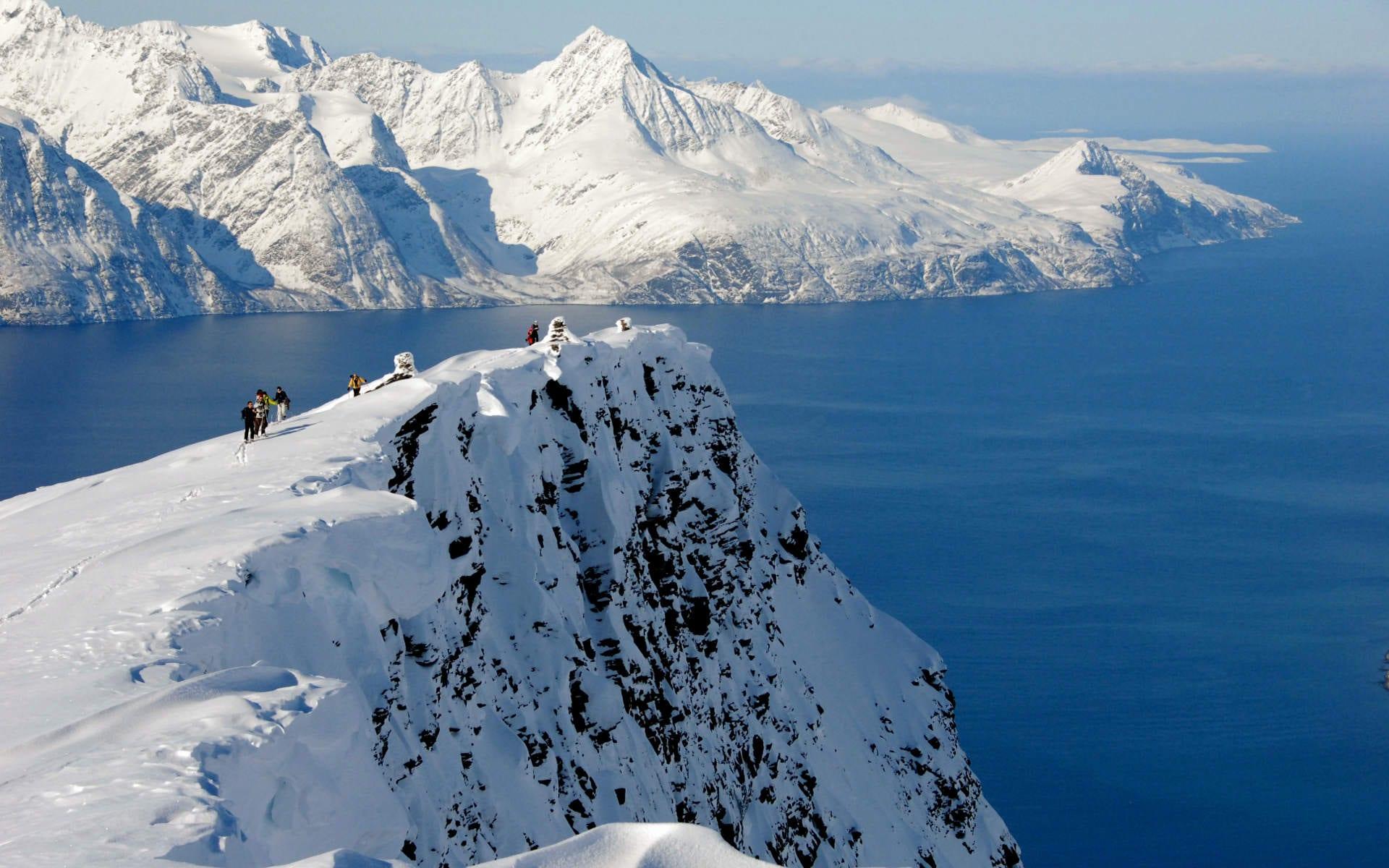 ski touring nordreisa norway landscape