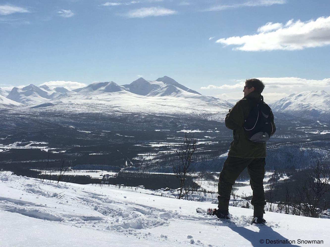 snowshoe mountain view snow norway