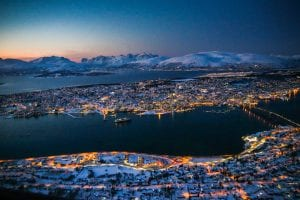 tromso landscape night