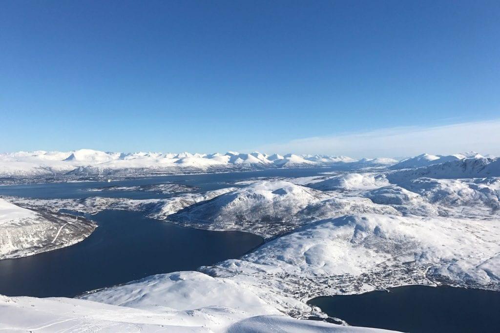 snowy mountain landscape Tromsø
