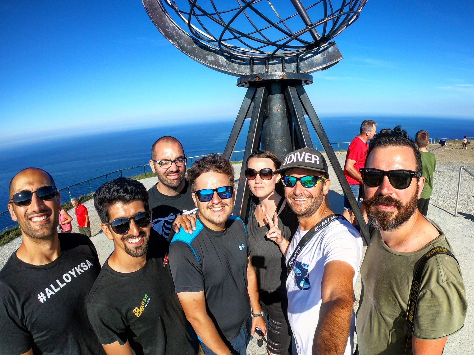 Charge to the Circle team at Nordkapp summer challenges