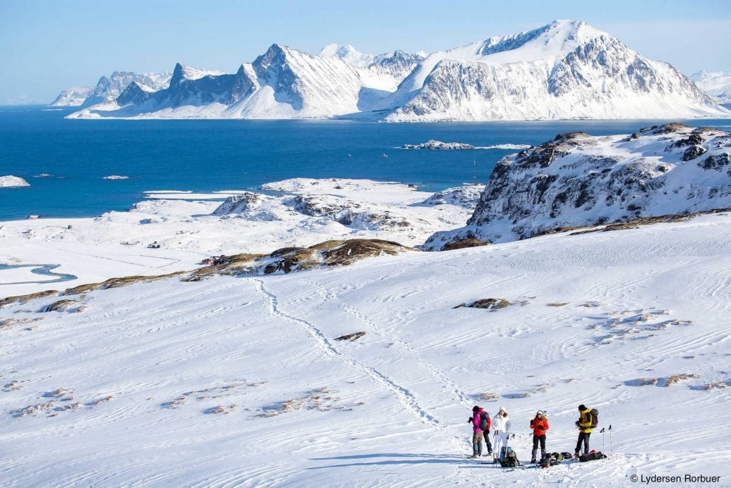 Lofoten skiing mountains snow