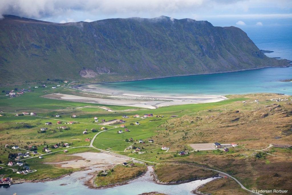Lydersen Lofoten village view