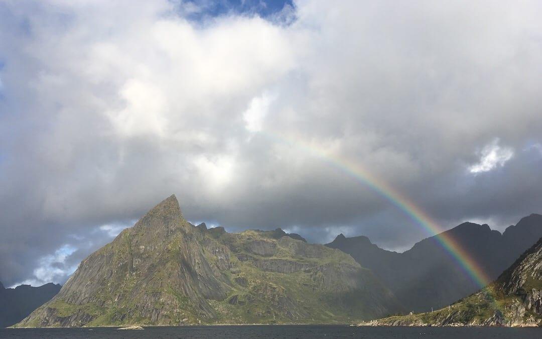rainbow fjord hamnoy eliassen