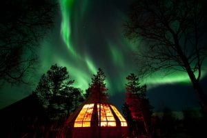 Northern Lights hut in Tromsø, Norway