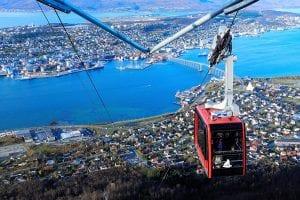 gondola cable car tromso summer