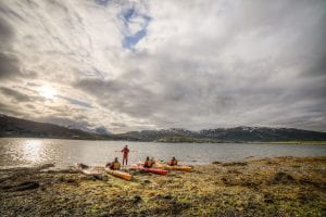 sea kayak lessons tromso summer