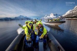 selfie on rib boat during rib sea eagle safari trollfjord svolvær norway
