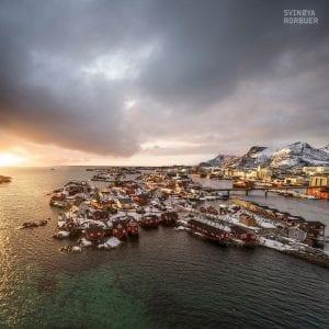 Svinoya Svolvaer Lofoten Landscape Rorbuer