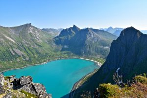 Hamn i Senja landscapes Norway beautiful fjords and green water