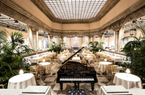 Britannia Hotel Restaurant with Piano in the center